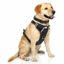 New listing Dog Harness No Pull, Pet Harnesses with Dog Collar, Adjustable Reflective Oxfor