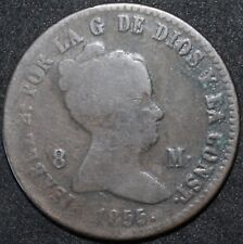 1855 | Spain Isabel II Spain 8 Maravedis | Copper | Coins | KM Coins