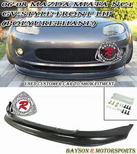 GV-Style Front Lip (Urethane) Fits 06-08 Mazda Miata MX5