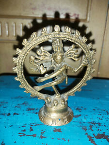 SMALL VINTAGE BRASS SHIVA FROM INDIA