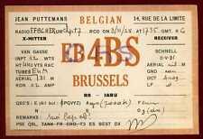 CARD  CARTE  QSL  radio amateur    BELGIQUE      1928   ( 230 )