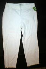 New Womens 16 Orvis Office Slacks Pants White Trouser Chino Side Zip Flat NWT