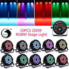 U`King 10Pcs 200W Stage Lighting Rgbw 18Led Par Dmx512 Dj Disco Party Show Light