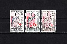 Laos   croix rouge   série de 1953  num:  25/27   neuf  *