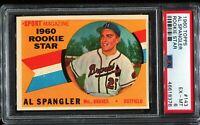 1960 Topps Baseball #143 AL SPANGLER Milwaukee Braves  RC ROOKIE PSA 6 EX-MT