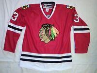 Chicago Blackhawks Hockey Jersey Dan Carcillo #13 Reebok Fight Strap Size 50