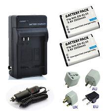 2x EN-EL23 ENEL23 Battery + Charger for Nikon Coolpix B700 P900 S810c P610 P600