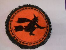 A TOUCH OF FANCY BLACK  WITCH  FOR YOUR HALLOWEEN DECOR MINI RUG - NICE!!
