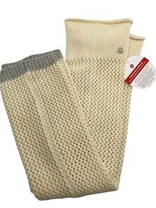 Lululemon Falling Freely Leg Warmers 100% Merino Wool Knit - With Tag - Unworn