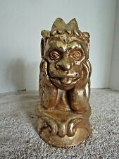 """Notre Dame Gothic Mythical Gargoyle Statue Bookend Gold Plaster 8"""" x 4 1/2"""""""