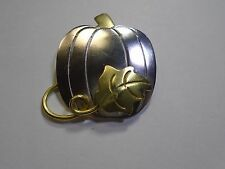Pumpkin Brooch Pin 14.5g 1499 Two Tone Silver And Goldtone