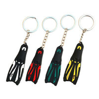 Diving Fin Key Chain Dive Flipper Keychain Keyring Divers Key Ring Holder