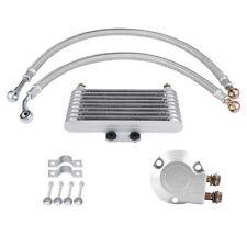 Motorcycle Engine Horizontal Aluminum Oil Cooler Radiator for Suzuki EN GN GSX