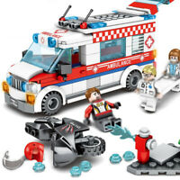 238pcs Ambulance Model Building Blocks with Doctor Nurse Figures Toys Bricks
