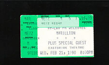 ORIGINAL Vinage Marillion Ticket Stub Feb 21 1990 Grand Rapids Michigan