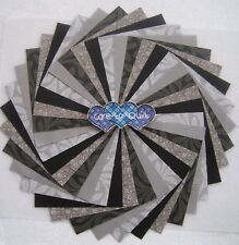 Black & Gray Charm pack 5 inch squares 50 per pk.Quilting Fabric
