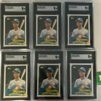 1989 Topps Traded #41T Ken Griffey Jr Rookie RC SGC 9 MINT! Investment Lot of 6