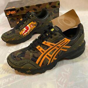 Bape x Asics A Bathing Ape Size 8 GEL-1090 Tiger Motif Sneakers Camo Shoes NIB