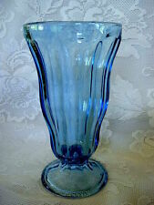 ANCHOR HOCKING Lt.Cobalt Blue Pressed Glass Ice Cream Soda Dish/Goblet-MORE AVAI
