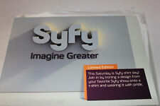SYFY LIMITED EDITION T-SHIRT & 8 TV SHOWS IRON ON DECALS (MEDIUM / M) NEW