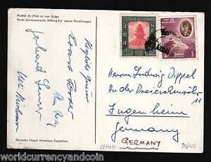 NEPAL 1962 *FIRST ASCENT PUMO RI INDIAN ARMY HIMALAYAN EXPEDITION SIGN POST CARD
