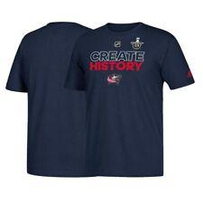 "Columbus Blue Jackets NHL Adidas ""Create History"" Men's Navy Blue T-Shirt"