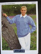 Hayfield Knitting Pattern: Ladies Sweater, DK, One size, 00878