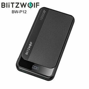BlitzWolf BW-P12 10000mAh 22.5W Type-C QC 3.0 Dual Output Input Smart Power Bank
