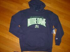 ND NOTRE DAME FIGHTING IRISH  Hooded  EMBROIDERED Sweatshirt NEW .sz....LARGE