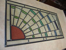 Newly crafted TRADITIONAL STAINED GLASS WINDOW PANEL Sunburst 825mm by 436mm
