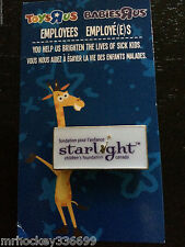 Toys R US CANADA VERY Limited Employee Pin. Supporting SICK KIDS French/English