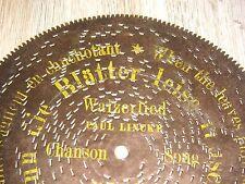 """Blechplatte Gloriosa Kalliope 19,5cm Wenn die Blätter leise rauschen disc 7 5/8"""""""