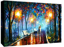 Afremov Stroll in Park Oil Painting on Canvas Wall Art Picture Print