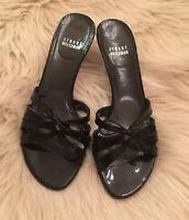Stuart Weitzman Womens Slide On Sandal Heels Black Size 6.5 M