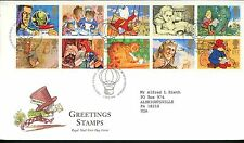 Postal History Great Britain FDC #1538-1547 greetings Childrens literature 1994