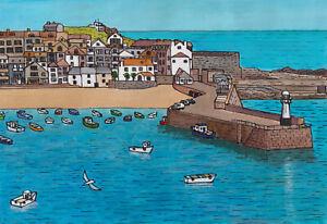 """St Ives harbour""   Cornwall/Cornish art"