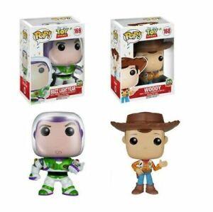 WOODY & BUZZ LIGHTYEAR Disney Toy Story 20th Anniversary Funko Pop #168,169 NEW!