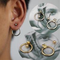 1 Pair Minimalist Tiny Jewelry Round Hoop Earrings Circle Ear Stud Women Fashion