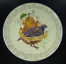 Noble Excellence Cake Plate Pedestal 12 Days Of Christmas Partridge Pear Tree