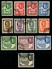 SOMALILAND - 1942 KGVI Set to 5R 'BLACK' VFU SG105-116 Cv £45 [B1222]