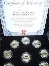 10x 5 Rand Südafrika - STADIEN DER WM 2010 - emailliert - SELTEN!