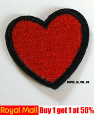 Red Heart Patch Love Embroidered Iron Sew On Valentine Applique Badge