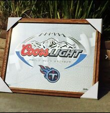 Coors Light Tennessee Titans Nfl Football Beer Bar Mirror Man Cave