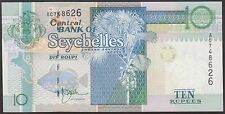 TWN - SEYCHELLES 36a - 10 Rupees 1998 UNC Prefix AC