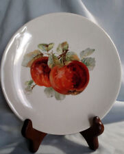 Edward J. Owen China Company Cabinet Plate - Apple Decoration