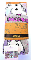 3 Paar Einhorn Damen Socken Emoji Unicorn Strümpfe Regenbogen Bunt 37-42 Primark