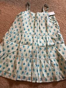 NWT Gap XS 4-5 Girls Blue Pear Sun Dress