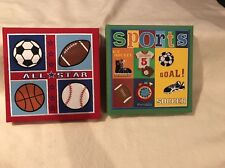 9x9 Basketball Hoops Embroidered Sports Boys Wall Art Bedroom Decor Sign
