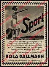Orig. Advertising Kola Dallmann Leni Riefenstahl Berlin Wiesbaden-Sheer Stone 1931