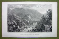 GERMANY Saxony Entrance to Okertal - 1820s Copper Engraving Cpt BATTY